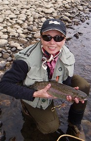 Sabrina Fly Fishing Elk Trout